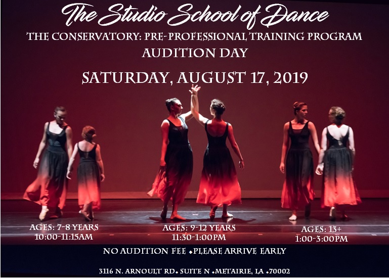 Audition!! This Saturday 8/17/19